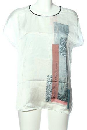 Garcia Jeans Kurzarm-Bluse Motivdruck Casual-Look