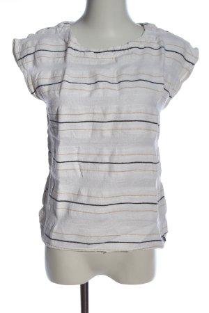 Garcia Jeans Kurzarm-Bluse Streifenmuster Casual-Look