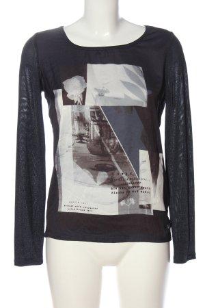 Garcia Jeans Langarm-Bluse Motivdruck Casual-Look