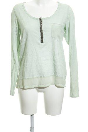 Garcia Jeans Langarm-Bluse blassgrün Casual-Look