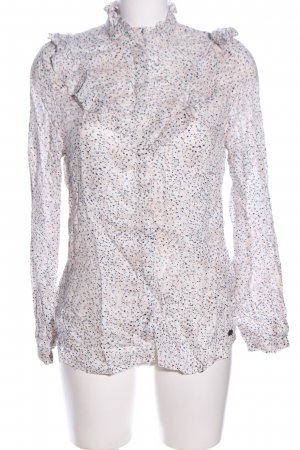 Garcia Jeans Langarm-Bluse Allover-Druck Casual-Look
