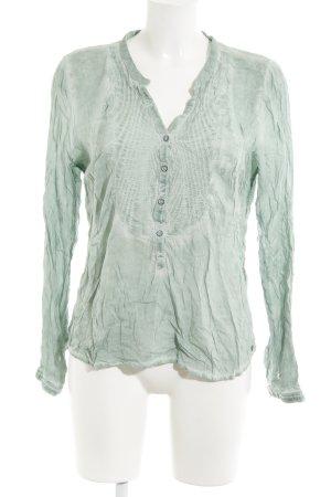 Garcia Jeans Langarm-Bluse graugrün Casual-Look