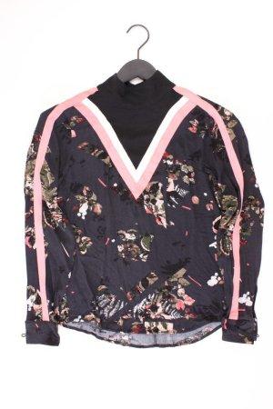 Garcia Jeans Langarmbluse Größe S mit Blumenmuster schwarz aus Viskose