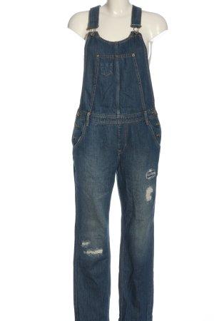 Garcia Jeans Vaquero tipo peto azul look casual