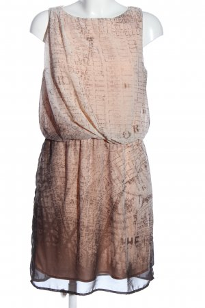 Garcia Jeans Chiffon Dress nude-brown abstract pattern casual look