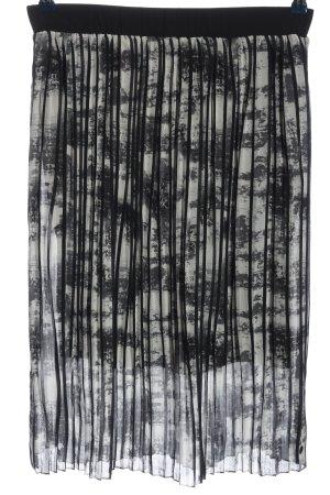Garcia Jeans Jupe plissée noir-blanc style décontracté