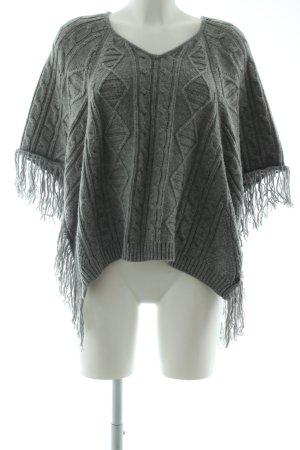Garcia Jeans Poncho grigio chiaro punto treccia stile casual