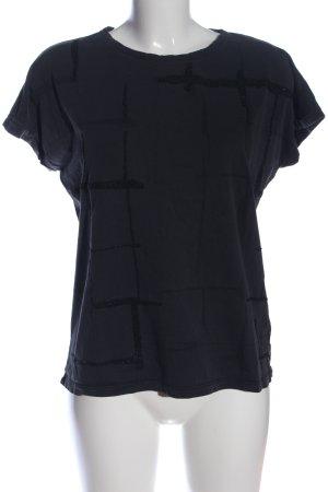 Garcia Jeans T-Shirt schwarz grafisches Muster Casual-Look