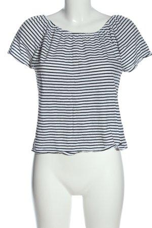 Garcia Jeans Ringelshirt weiß-schwarz Streifenmuster Casual-Look
