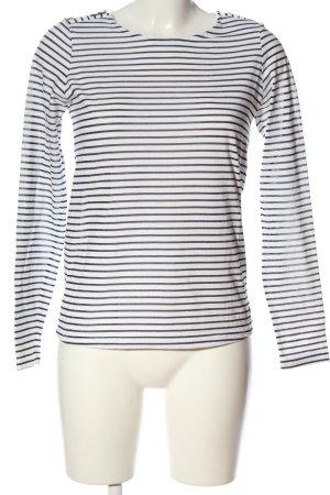 Garcia Jeans Ringelshirt weiß-schwarz Allover-Druck Casual-Look