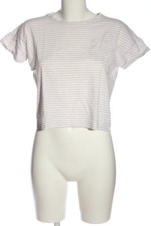 Garcia Jeans Ringelshirt weiß-bronzefarben Allover-Druck Casual-Look