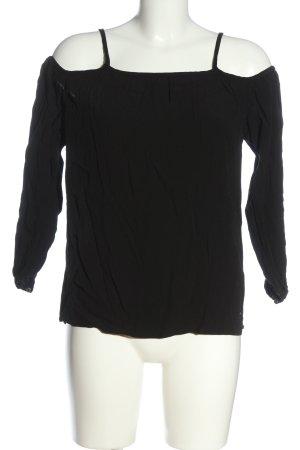Garcia Jeans Schlupf-Bluse schwarz Casual-Look