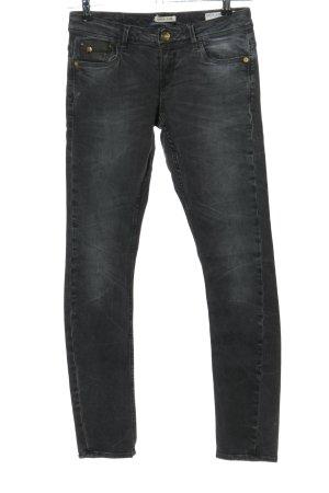 Garcia Jeans Slim Jeans hellgrau Casual-Look