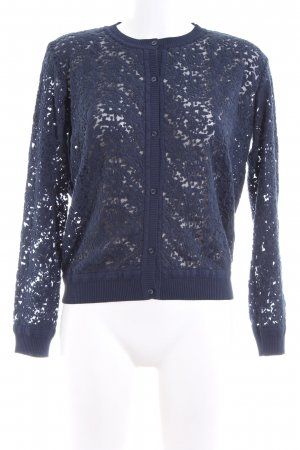 Garcia Jeans Spitzenbluse blau Casual-Look