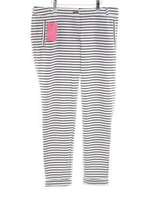 Garcia Jeans Stoffhose weiß-schwarz Streifenmuster Casual-Look
