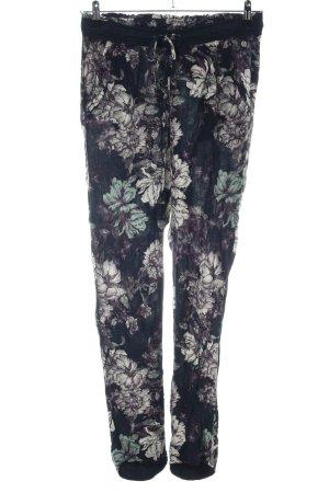 Garcia Jeans Stoffhose Blumenmuster Casual-Look