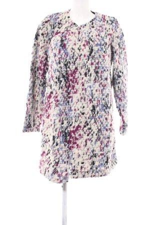 Garcia Jeans Strick Cardigan creme-pink abstraktes Muster Business-Look