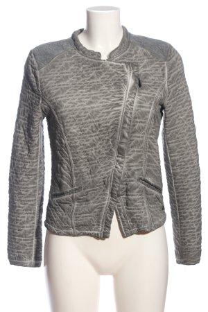 Garcia Jeans Blazer in maglia grigio chiaro motivo astratto stile casual