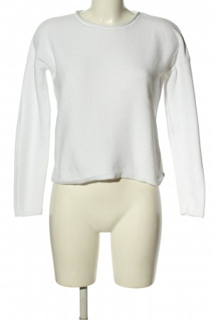 Garcia Jeans Strickpullover weiß Casual-Look