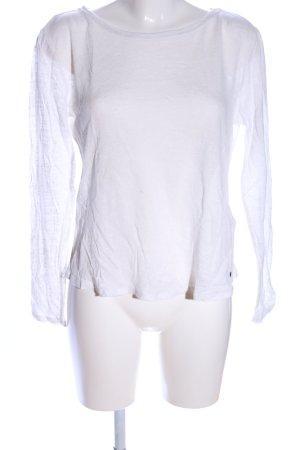 Garcia Jeans T-shirts en mailles tricotées blanc style décontracté