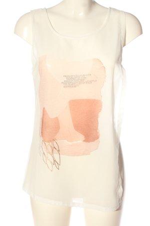 Garcia Jeans Stricktop wollweiß-nude abstraktes Muster Casual-Look