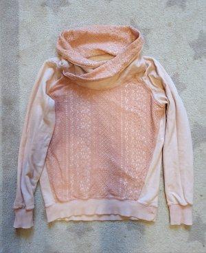 garcia jeans Sweatshirt sweater mit spitze und Schalkragen