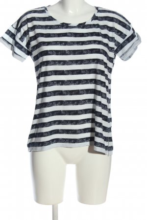 Garcia Jeans T-Shirt Streifenmuster Casual-Look