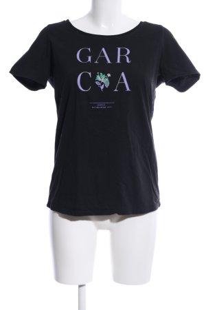 Garcia Jeans T-Shirt schwarz Schriftzug gedruckt Casual-Look