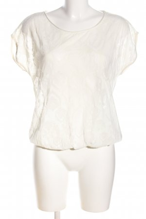 Garcia Jeans T-Shirt weiß Allover-Druck Casual-Look