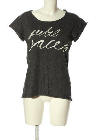 Garcia Jeans T-Shirt hellgrau-weiß meliert Casual-Look