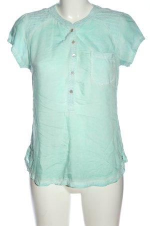 Garcia Jeans T-Shirt türkis Casual-Look