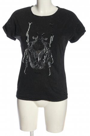 Garcia Jeans T-Shirt schwarz Casual-Look