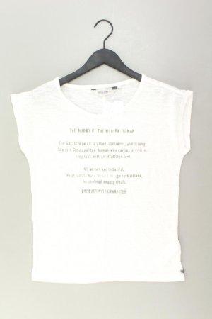 Garcia Jeans T-Shirt Größe XS Kurzarm creme aus Polyester