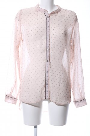 Garcia Jeans Transparenz-Bluse creme Allover-Druck Casual-Look