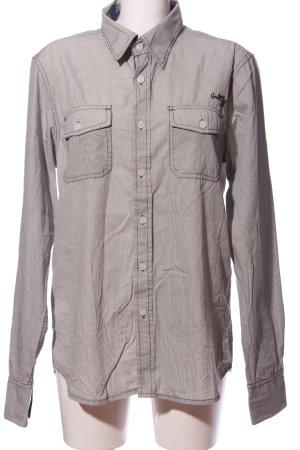 Garcia Jeansowa koszula jasnoszary Na całej powierzchni W stylu casual