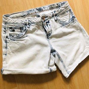 Garcia Jeansshorts Gr S weiß blau bleached Shirts Jeans kurze Hose