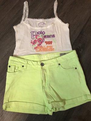 Garcia Jeansshorts/Hotpants apfelgrün