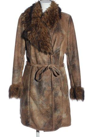 Garcia Cappotto in eco pelliccia marrone stile casual