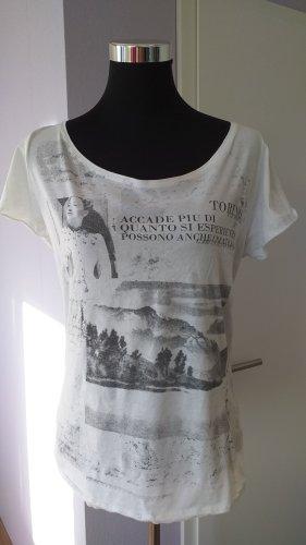 Garcia Jeans Print Shirt white-black