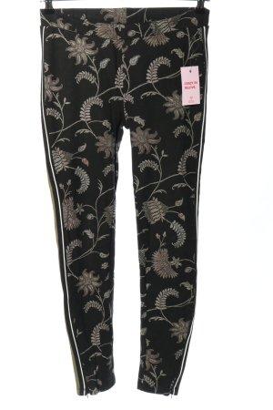 Garcia Jersey Pants black-cream allover print casual look