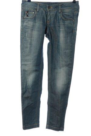Garcia Jeans a gamba dritta blu stile casual