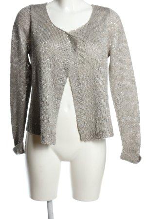 Garcia Cardigan in maglia grigio chiaro puntinato stile casual