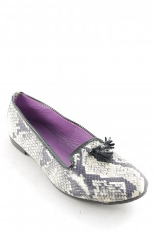 Gardenia Slipper schwarz-creme Lack-Applikation
