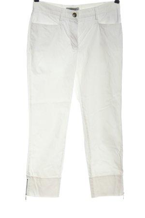 Gardeur Pantalone a 7/8 bianco stile casual
