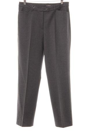 Gardeur Pantalone a pieghe grigio puntinato stile professionale