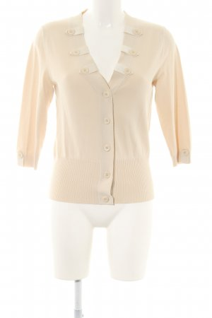 Gardeur Cardigan creme Business-Look
