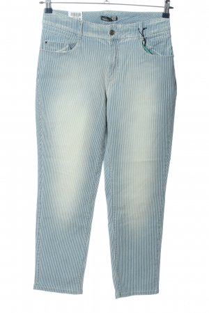 Gardeur Five-Pocket-Hose blau Streifenmuster Casual-Look