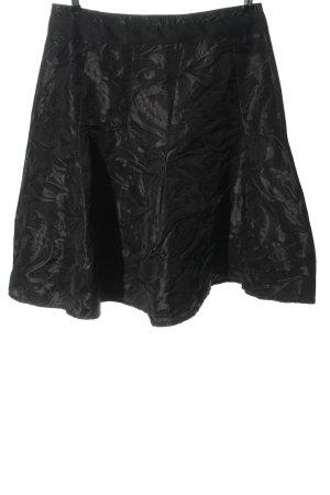 Gardeur Gonna a campana nero-grigio chiaro stampa integrale elegante