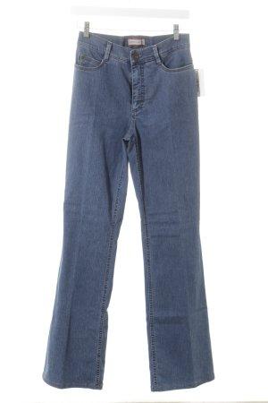 Gardeur Jeansschlaghose dunkelblau Jeans-Optik