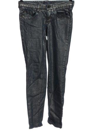 Gardeur Pantalone a sigaretta argento stile casual